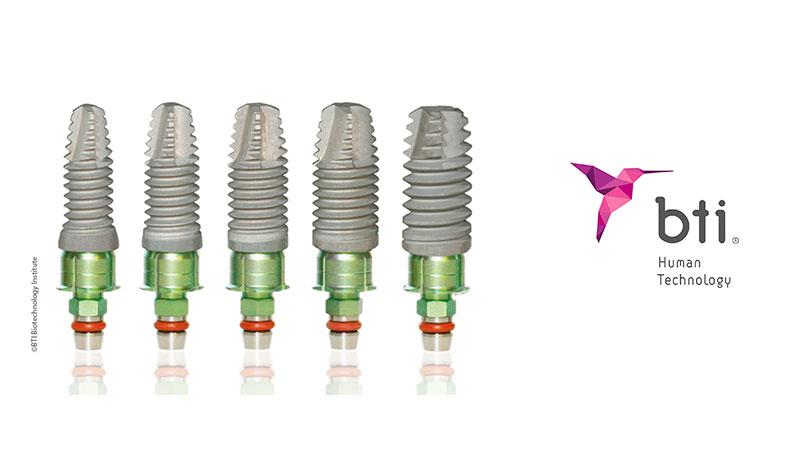 Tipos de implantes con plasma rico en factores de crecimiento de la marca BTI